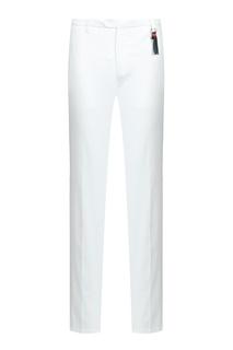 Белые брюки с брелоком Marco Pescarolo