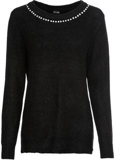 Пуловер со стразами Bonprix