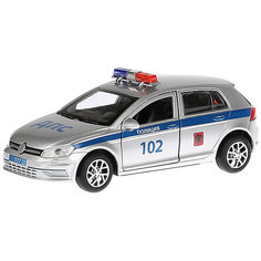 Металлическая машинка Технопарк Golf, Полиция