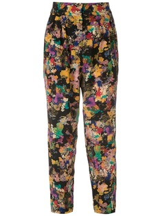 Andrea Marques зауженные брюки с принтом