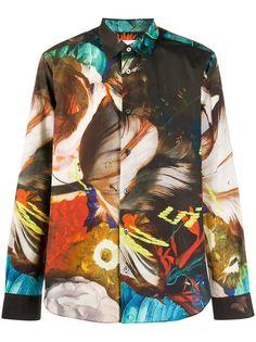 Paul Smith рубашка стандартного кроя с принтом