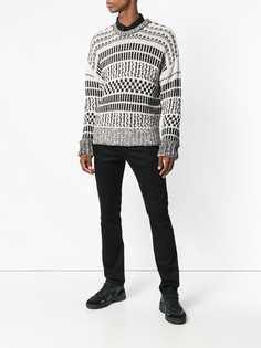 Ami Paris свитер оверсайз с круглым вырезом под горло