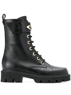 Baldinini ботинки на массивной подошве со шнуровкой