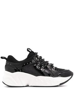DKNY platform glitter detail sneakers