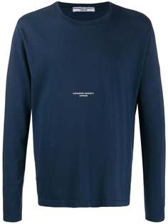 Katharine Hamnett London футболка с длинными рукавами и логотипом