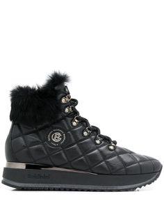 Baldinini стеганые ботинки со вставкой из искусственного меха