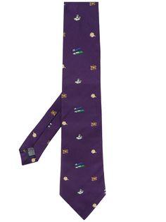 Paul Smith галстук с вышивкой