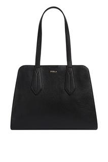 Черная сумка Diletta из матовой зернистой кожи Furla