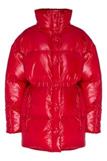 Красная стеганая куртка оверсайз Acne Studios