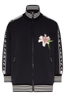Черная олимпийка с вышивкой Dolce & Gabbana