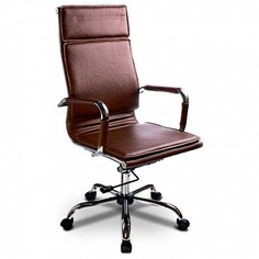 Кресло компьютерное Бюрократ CH-993 коричневое