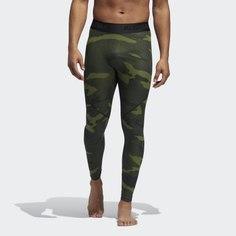 Леггинсы для фитнеса Alphaskin Camouflage adidas Performance