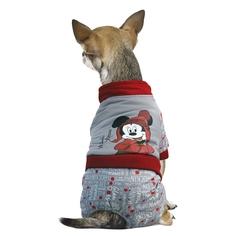 Комбинезон для собак Triol размер S женский, серый, красный, длина спины 25 см