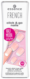 Накладные ногти Essence French Click & Go Nails 04 Im A Fashion Girl 12 шт