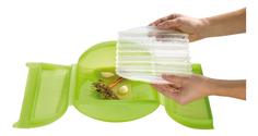 Конверт для запекания силиконовый 3-4 порции с вставкой(цвет:салатовый) Lekue