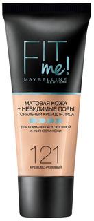 Тональный крем Maybelline Fit Me 121 Кремово-розовый 30 мл