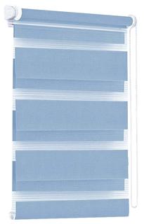 Рулонная штора Эскар День-Ночь 170х57 цвет голубой