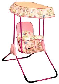 Качалка детская Фея Малыш с тентом розовый 0004289-2