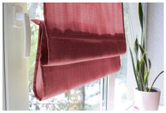 Римская штора Эскар Ballard 160х140 цвет красный