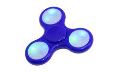 Спиннер-антистресс с LED подсветкой, синий Bradex