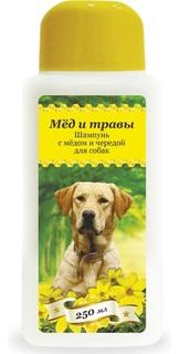 Шампунь для домашнего питомца с медом и чередой, 250мл Пчелодар