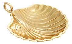 Блюдо EICHHOLTZ Tray Shell M Polished brass