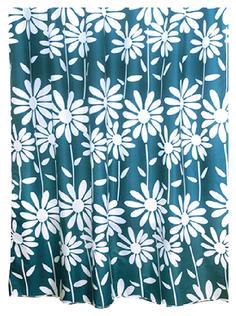 Штора для ванной Milardo Flowers Blue 950P180M11