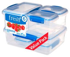 Набор контейнеров для СВЧ Sistema Pack Fresh 921760 Синий; Прозрачный