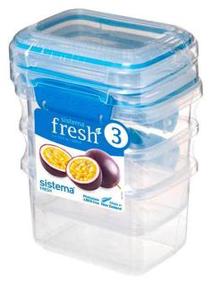 Набор контейнеров для СВЧ Sistema Pack Fresh 921543 Синий; Прозрачный