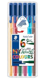 Набор фломастеров Staedtl Triplus Color My Nature Colours 323 серия 6 натуральных цветов Staedtler
