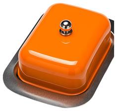 Масленка Mayer&Boch 21378-3 Оранжевый, прозрачный, серебристый
