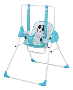 Качалка детская Disney baby Качели Микки Маус с вышивкой синий 0001701-06