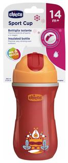Чашка-поильник Chicco Sport Cup с трубочкой, 266 мл, Красный