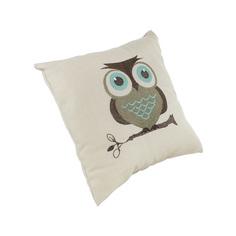 Декоративная подушка Сова, бежевая, 30х30см (03487) Frank