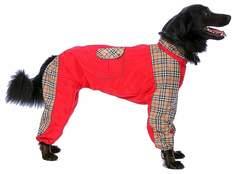 Комбинезон для собак ТУЗИК размер 4XL женский, красный, длина спины 60 см