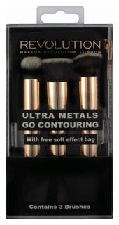 Набор кистей для макияжа Makeup Revolution Ultra Metals Go Contouring