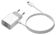 Сетевое зарядное устройство Jet.A UC-S14 1 USB 2,1A White