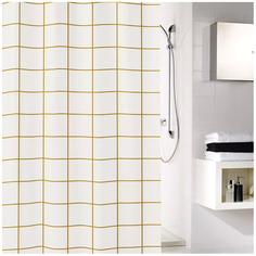 Штора для ванной Kleine Wolke Grid 5914919305 Белая