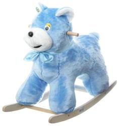 Качалка детская Тутси Голубой медведь мягкая