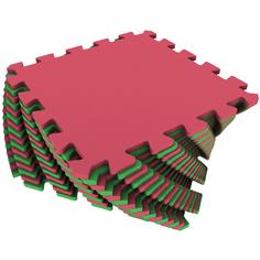 Развивающий коврик Eco Cover 25*25 см красно-зеленый