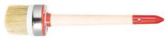 """Кисть круглая с бандажом """"Профи"""", натур, светлая щетина №6 (30 мм) 01404 F.It"""