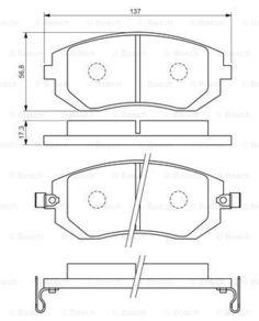 Комплект тормозных дисковых колодок Bosch 0 986 494 558
