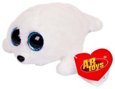 Мягкая игрушка ABtoys Тюлень белый, 15 см