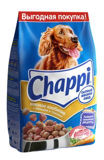 Сухой корм для собак Chappi Сытный мясной обед, Мясное изобилие, 2,5 кг