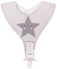 Нагрудный фартук Happy Baby с креплением для пустышки Star