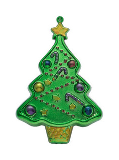 Елочная игрушка Наряженная елка Snowmen Е70084 Зеленый