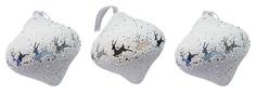 Набор елочных украшений Snowmen Белая луковица с оленями Е94718 Белый