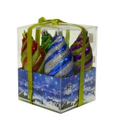 Набор елочных украшений Snowmen Сосулька витая Е0085 Разноцветный