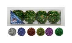 Набор елочных украшений Snowmen Мишура Е50062 Зеленый