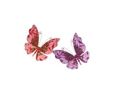 Набор елочных украшений Snowmen Бабочка Е70614 Розовый